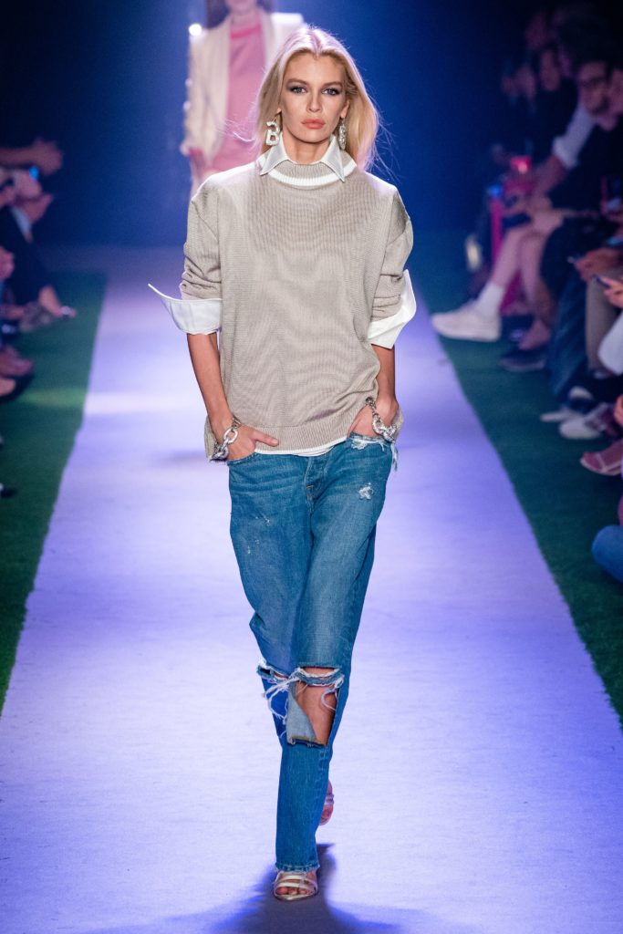 Модные джинсы.