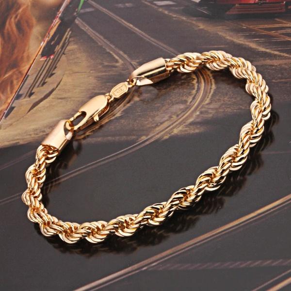 Золотой мужской браслет.