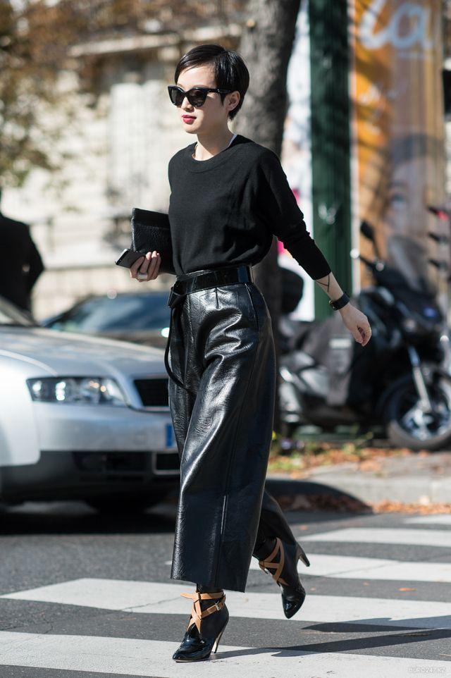 Образ с чёрными брюками.