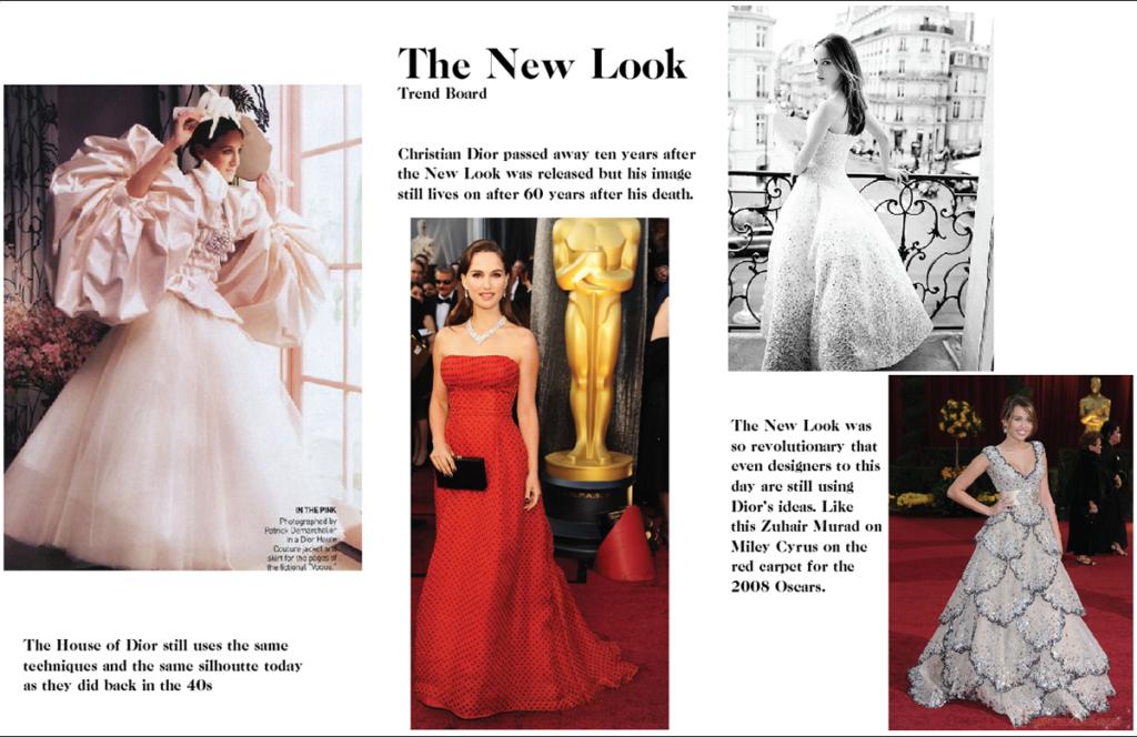 Современные платья в стиле Нью Лук.