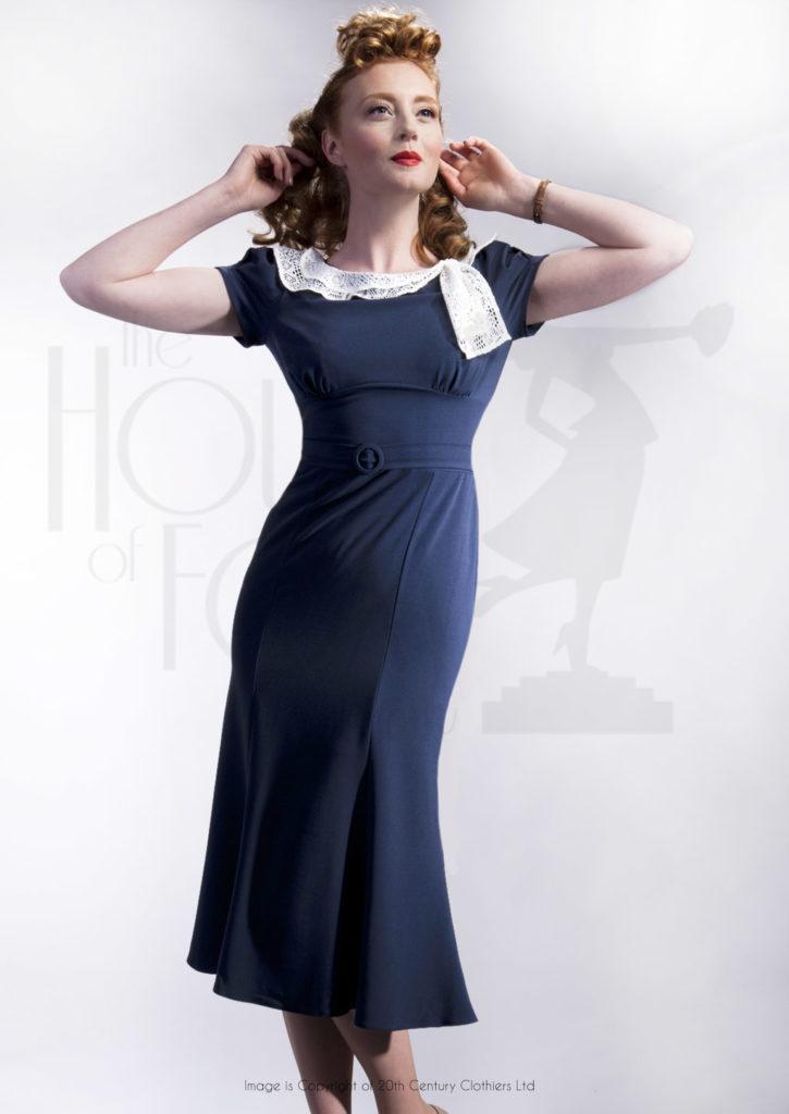 Повседневное платье в стиле 30-х.