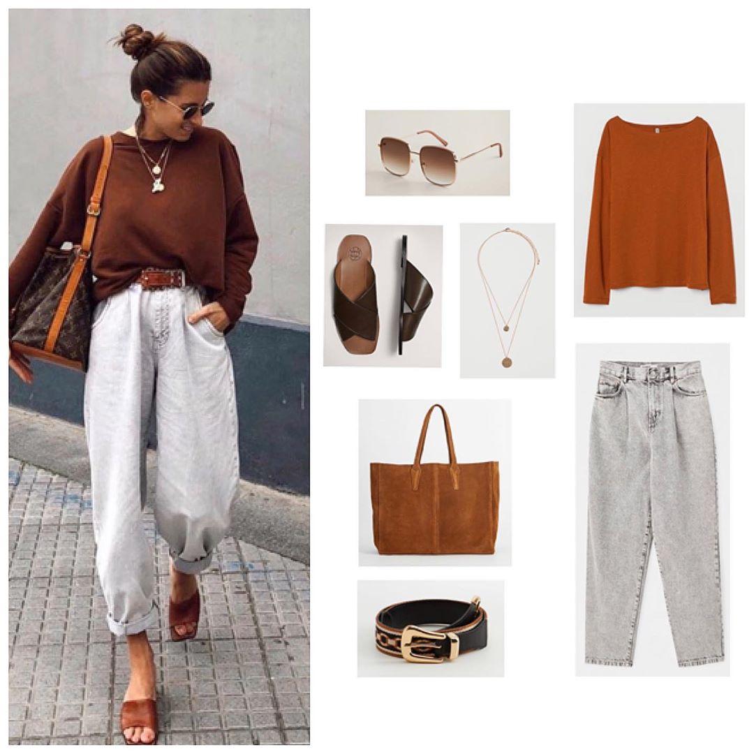 Лонгслив, джинсы и сандали