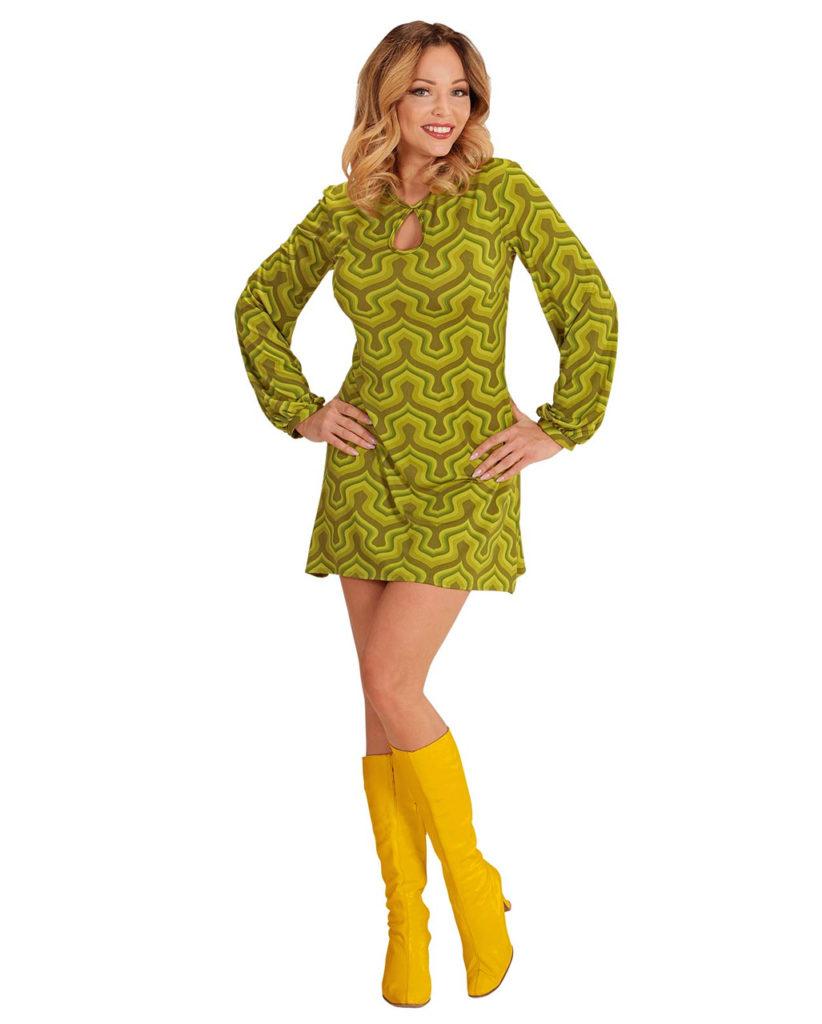 Короткое платье в стиле 70-х.