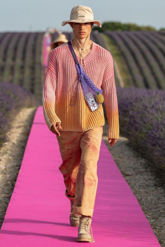 Образ оверсайз мужской со свитером.