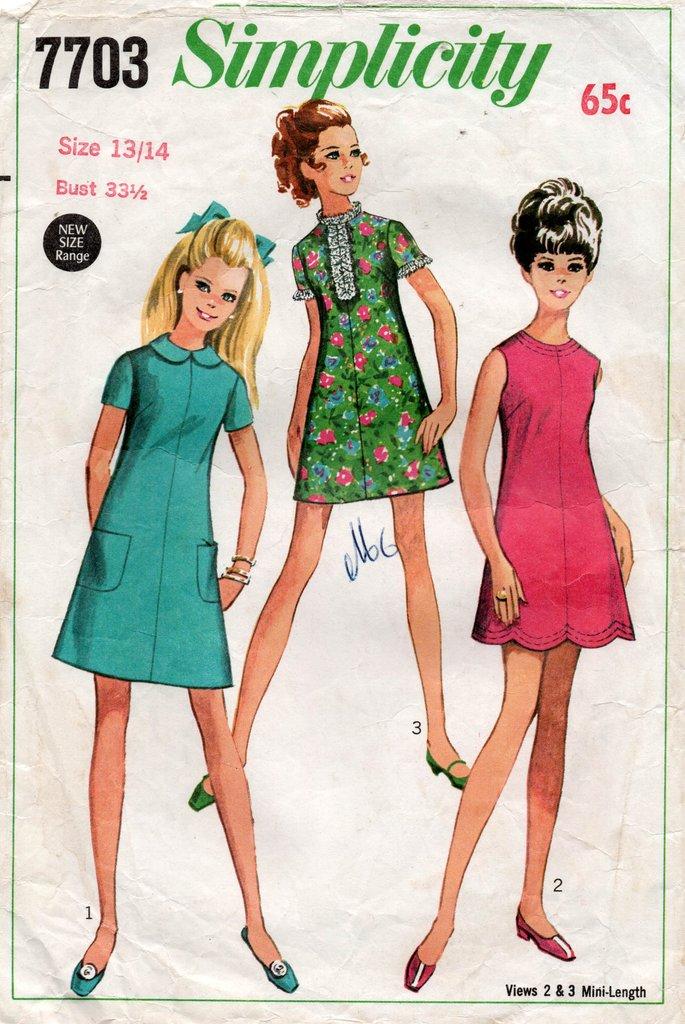 Платья 60-х.