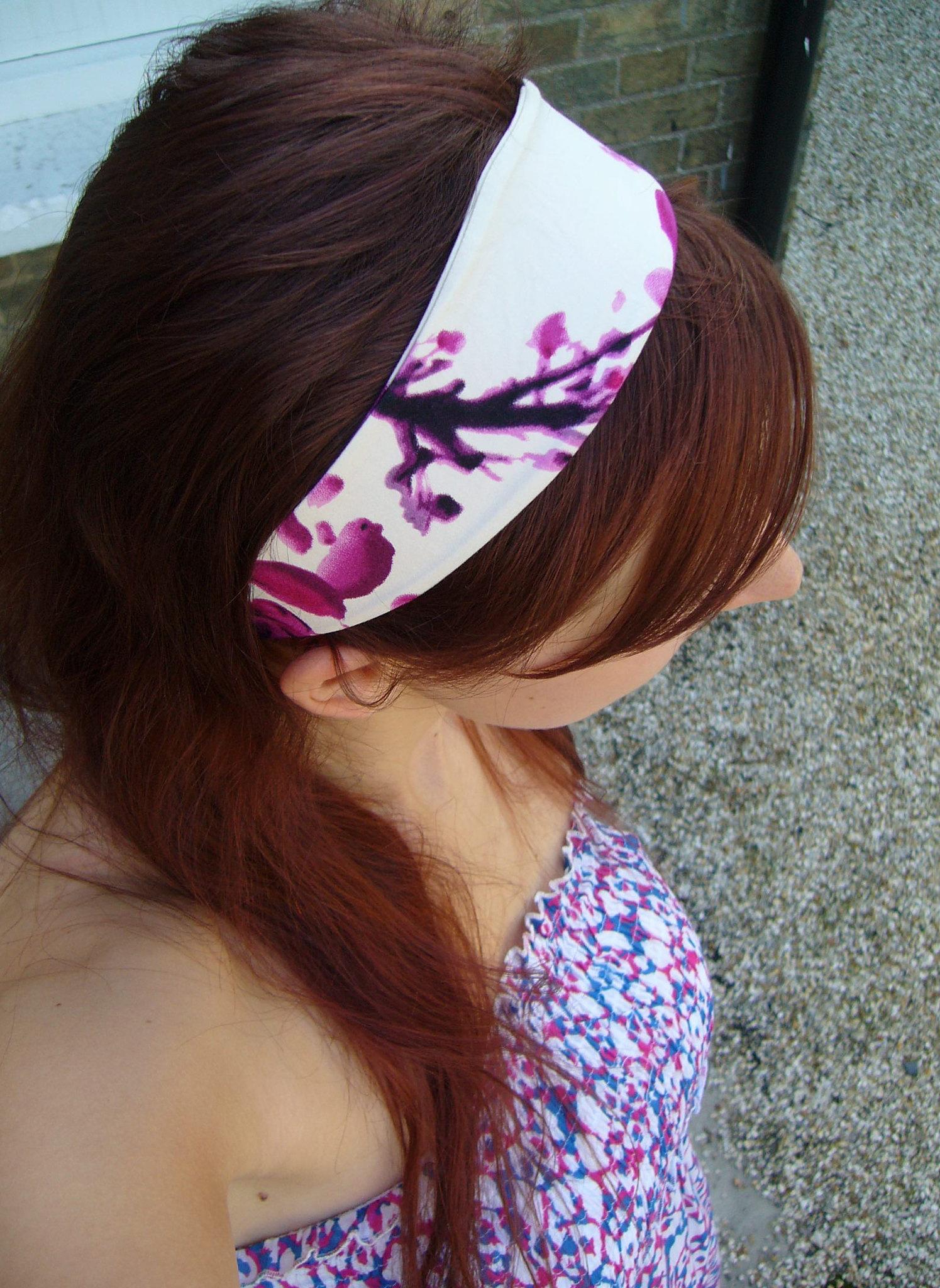 Повязка на голову с цветочным принтом
