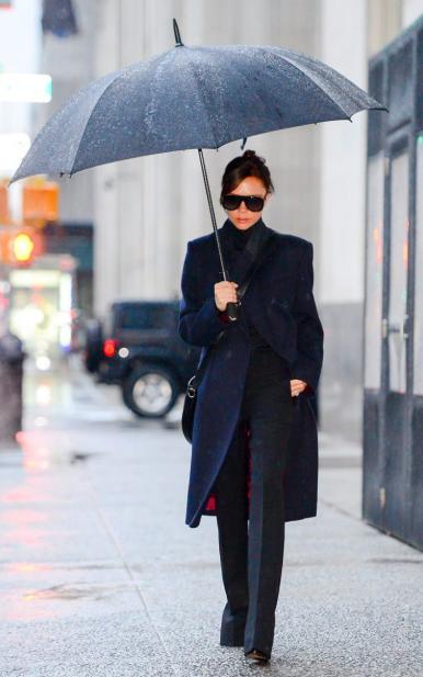 образ с деловым пальто
