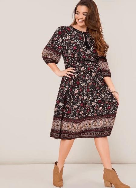 платье с ботильонами