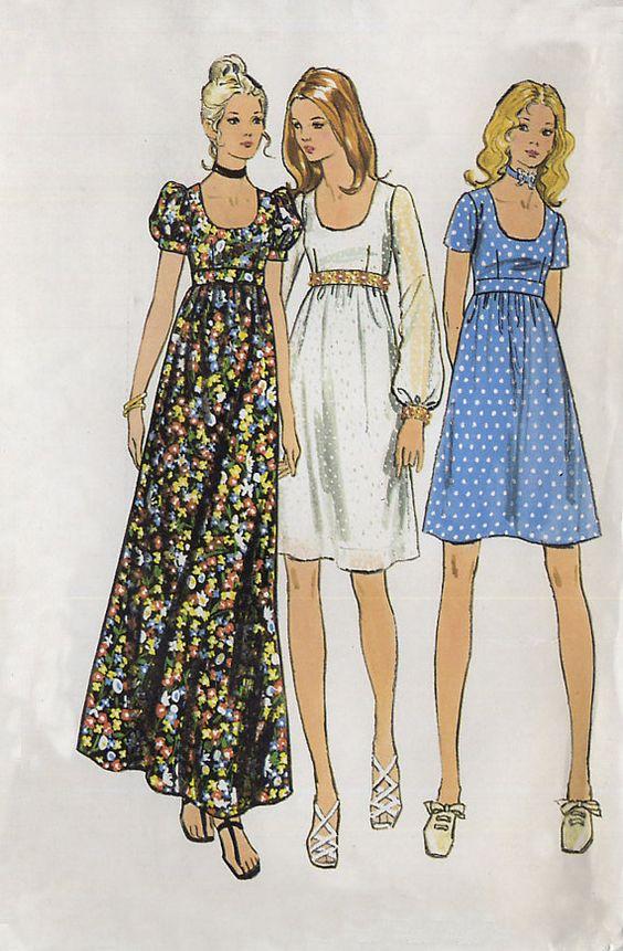 Платье 70-х годов.