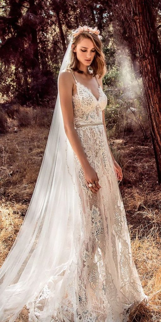 Свадебное платье бохо-шик.