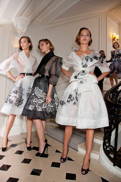 Вечерние платья в стиле нью-лук.