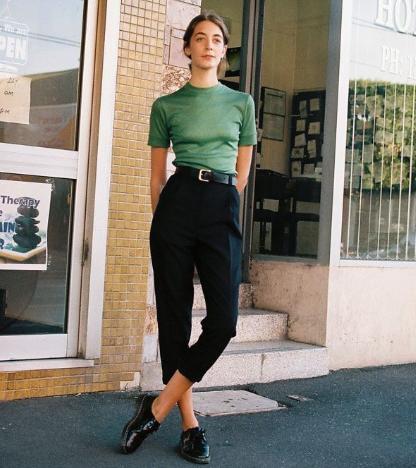 зеленая блуза