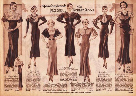 Платья 30-х годов.