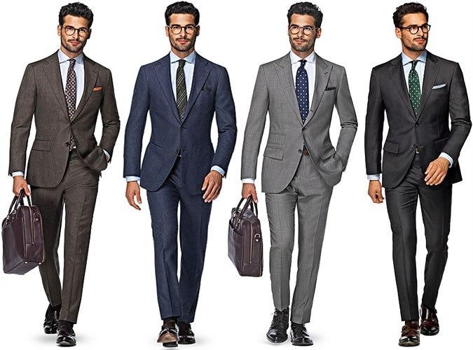 Примеры костюмов для строгого дресс-кода.