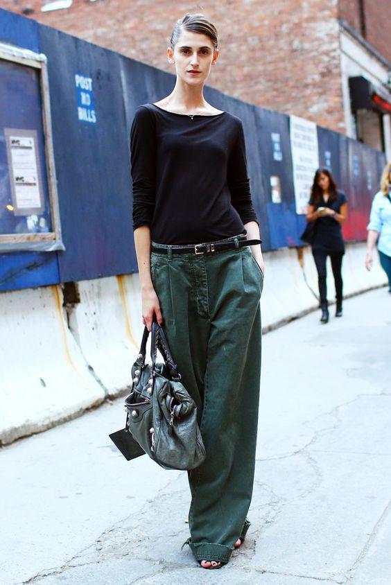 Широкие брюки.