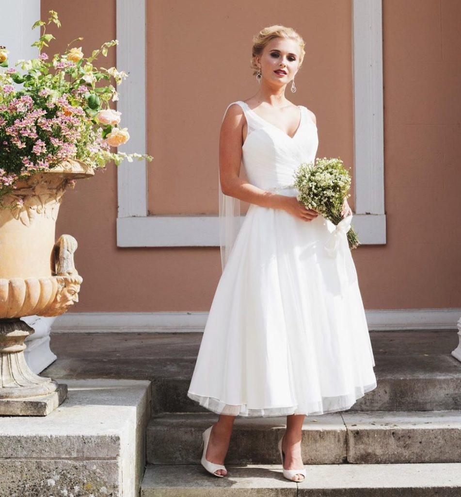 свадебное платье 50-х