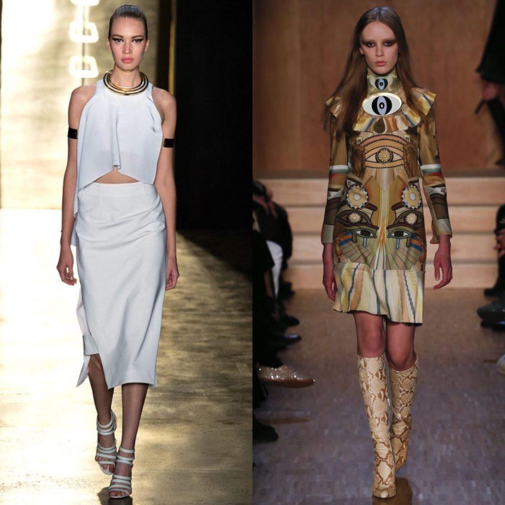 Примеры египетского стиля в одежде.