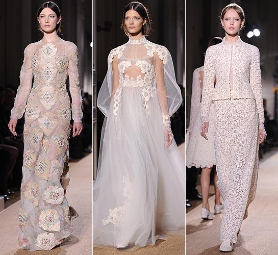 Подиумные платья в стиле романтизм.