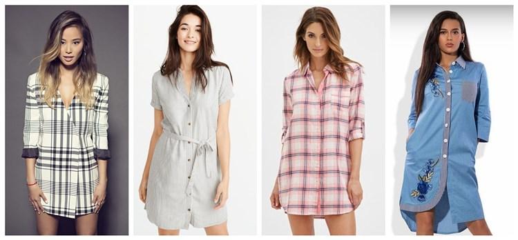 Расстёгнутые платья-рубашки