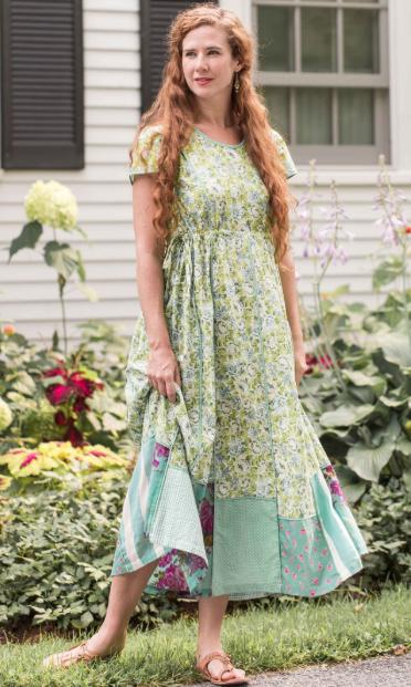 зеленое платье рустик