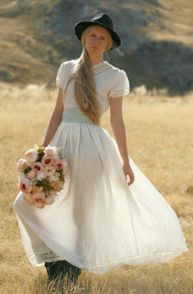 белое платье рустик
