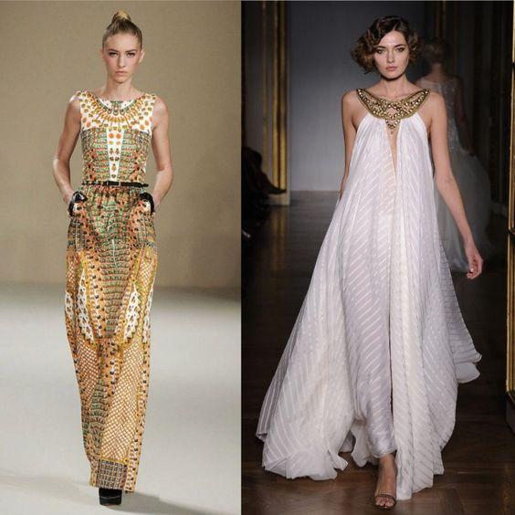 Платья в египетском стиле.