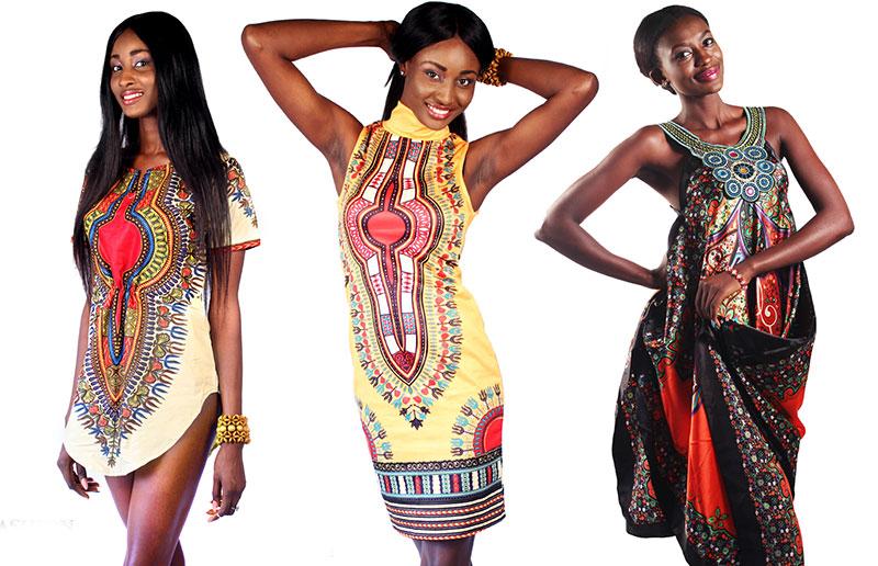 Платья и туники в африканском стиле.
