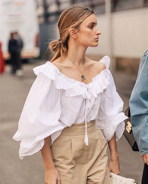 Блузка в стиле романтизм.
