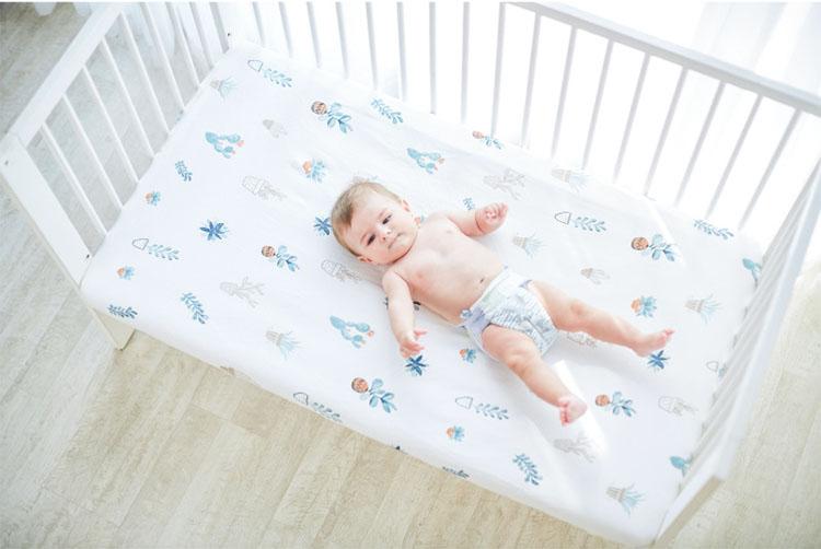 простынь на резинке в кроватку младенца