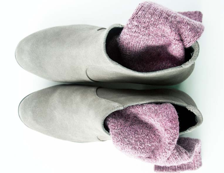 разнашивание замшевых туфель