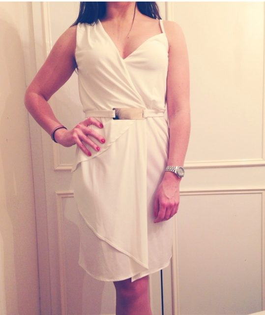 асимметричное платье-тога