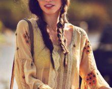 Девушка, одетая в стиле бохо