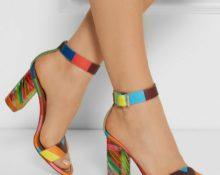 Туфли на цветном каблуке