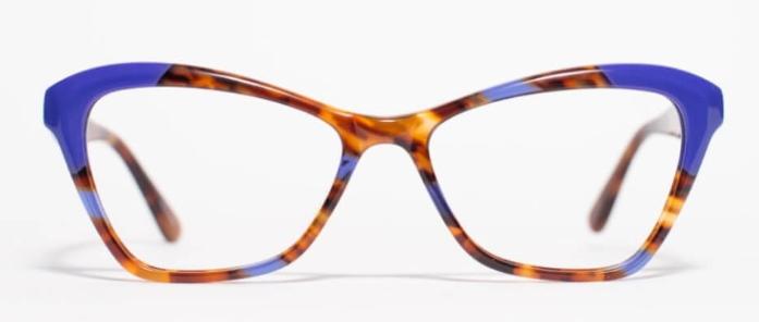синие роговые очки