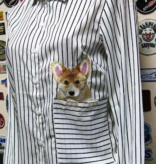 лис на рубашке