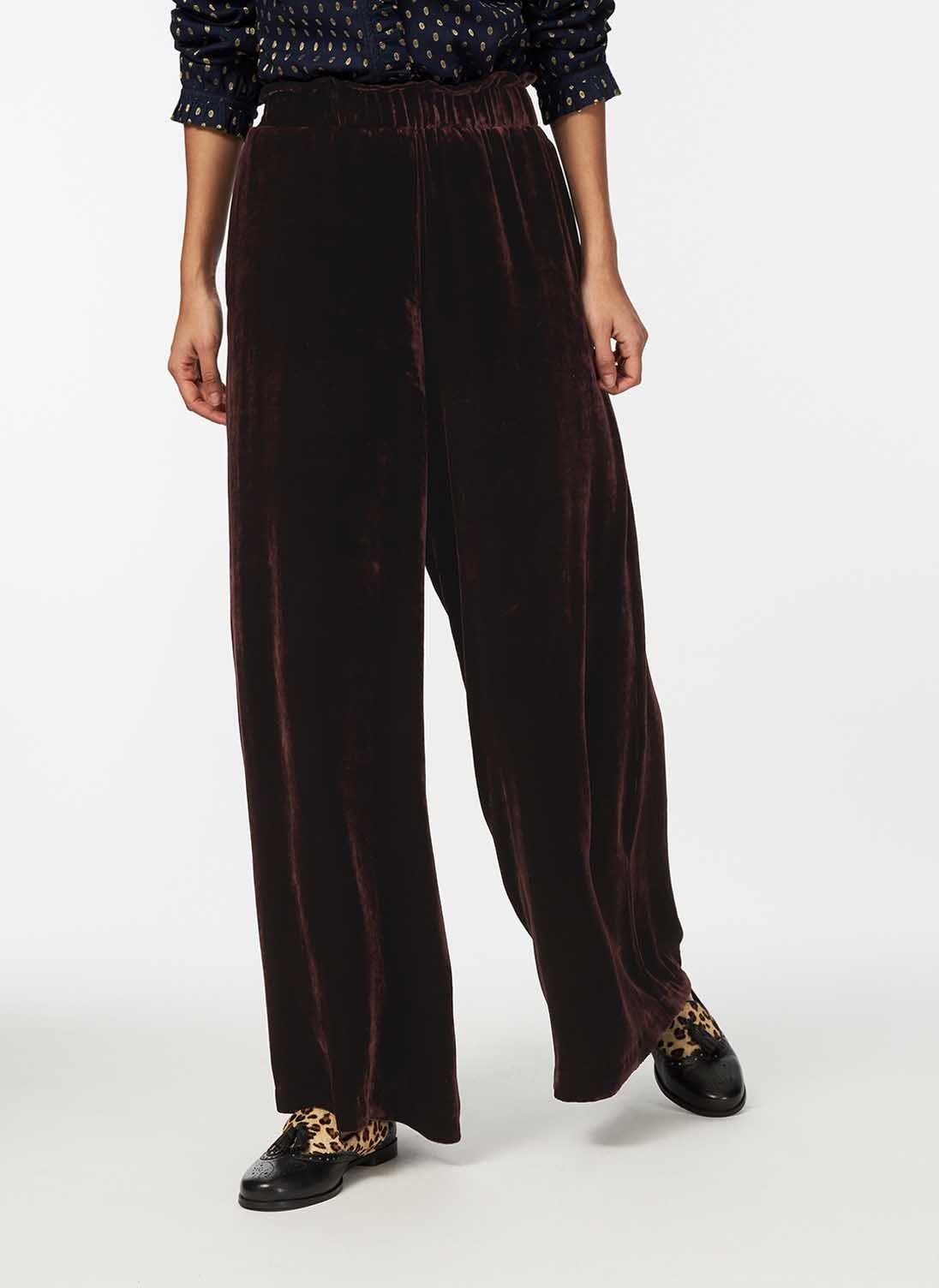 Вельветовые брюки-палаццо