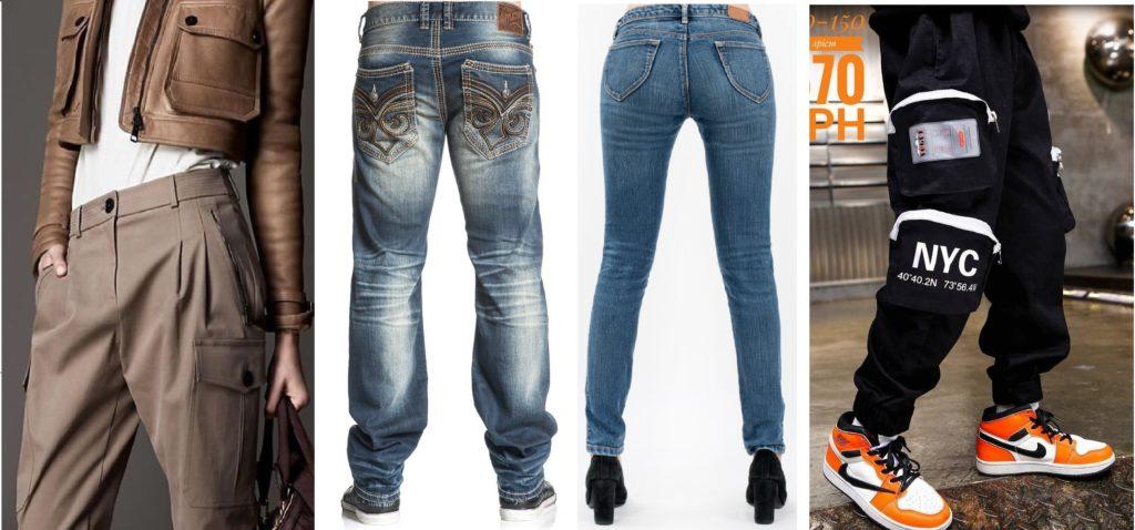 Накладной карман на брюках