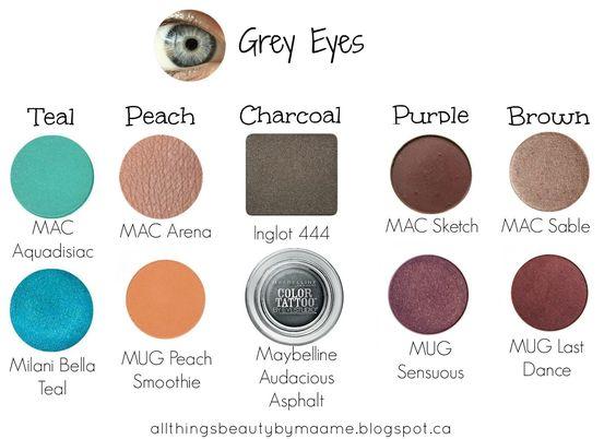Тени для серых глаз.