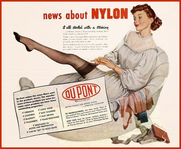 Старая реклама нейлона