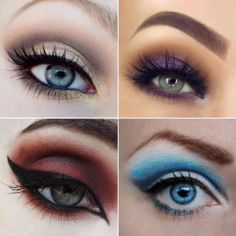 Тени для голубых глаз.