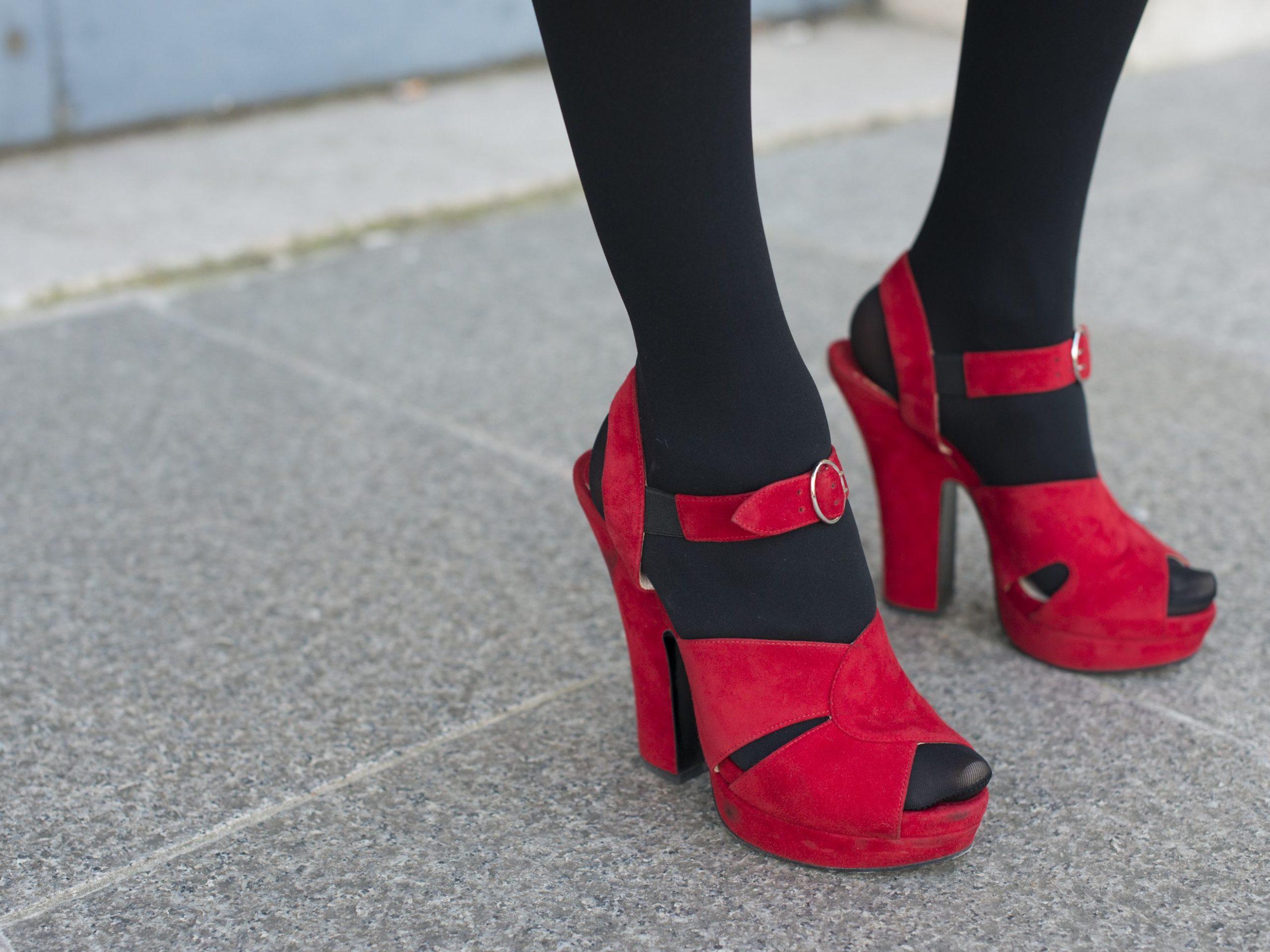 Колготки с открытой обувью