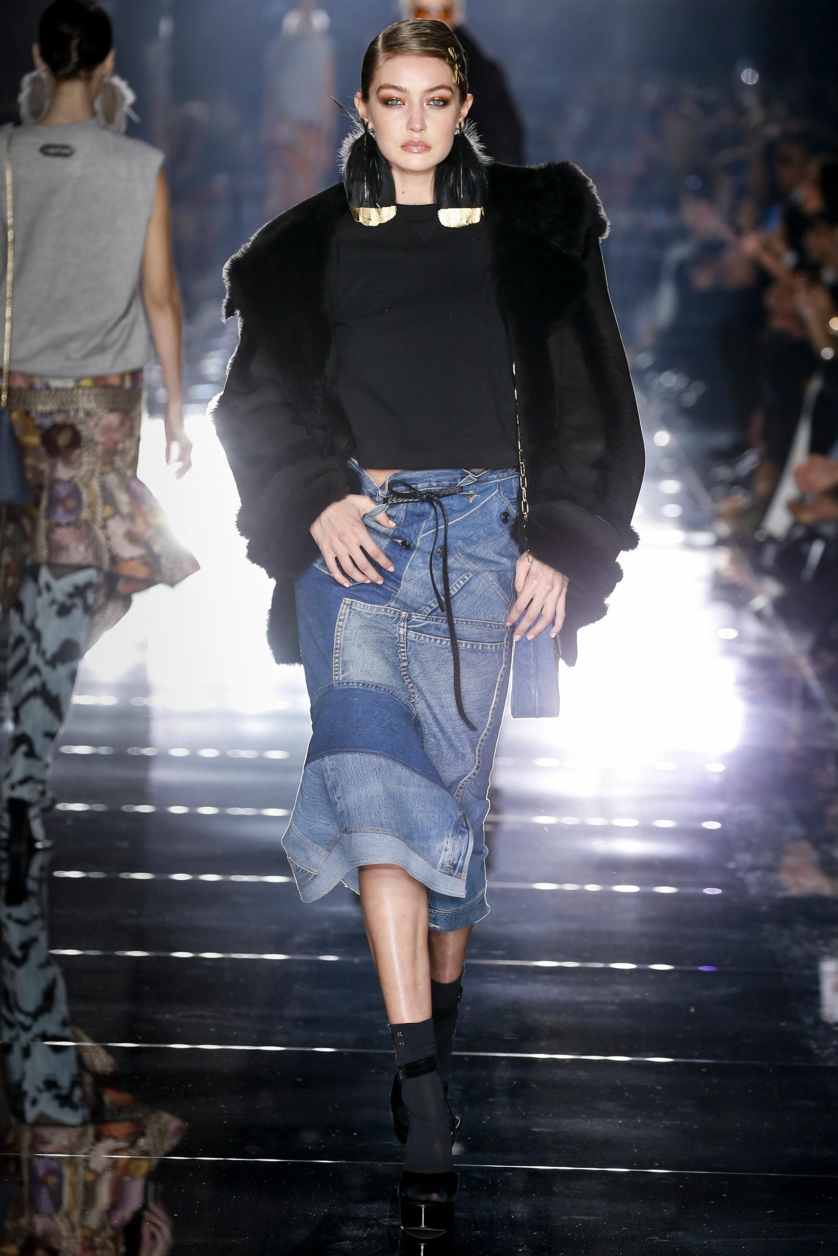 Tom Ford джинсовая юбка миди