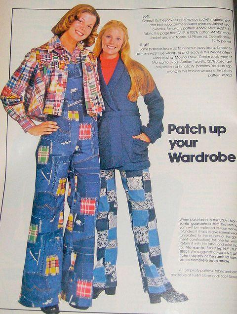 Пэчворк мода 70-х годов