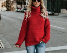 свитер из трикотажа
