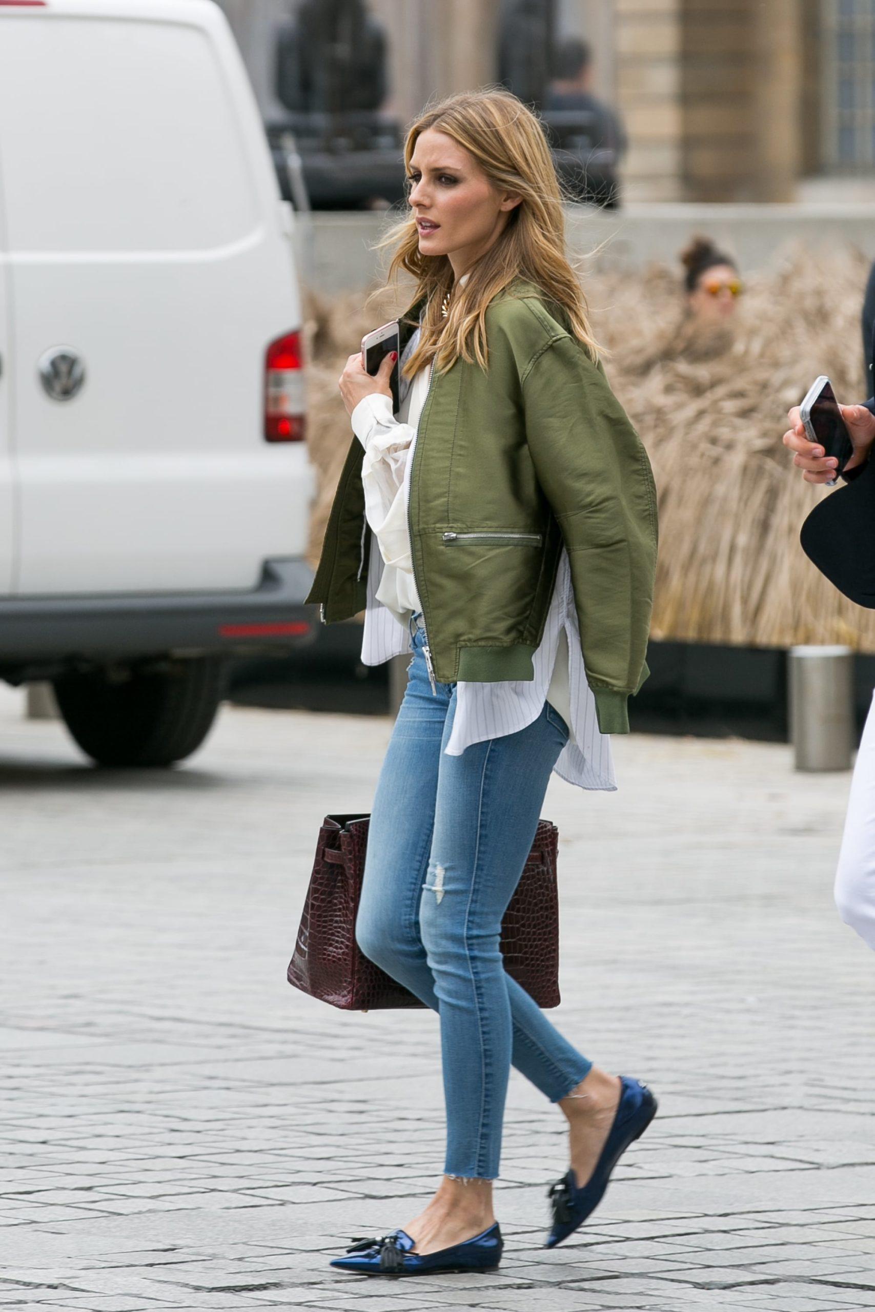 Оливия Палермо в пиджаке от TopShop