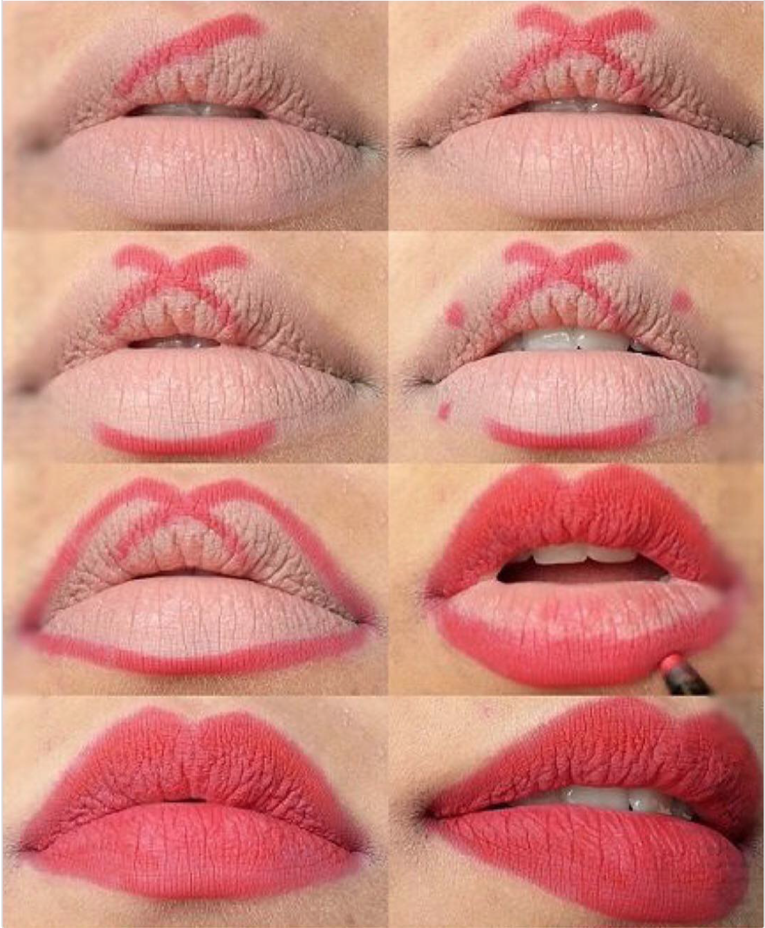 как красить матовой помадой губы