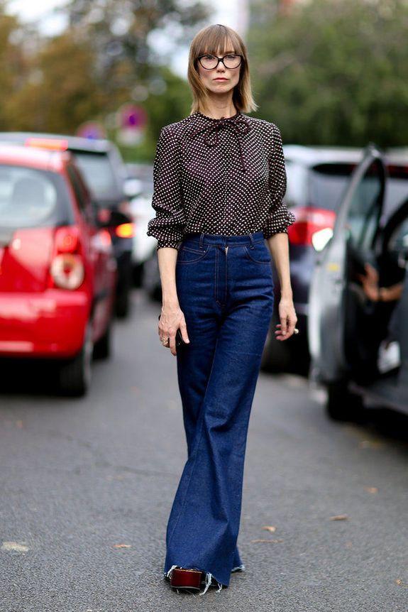 джинсы клёш для женщин после 50
