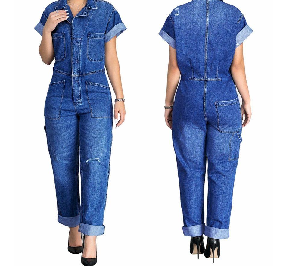 джинсовый комбинезон для женщин после 50