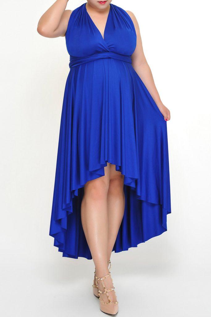 Синее платье.