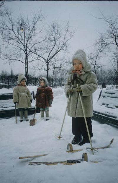 дети СССР зимой